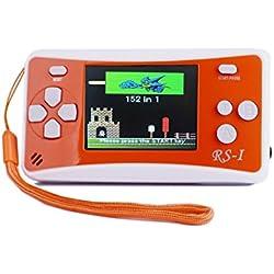 "SHANGPIN 2.5"" LCD 8-Bit Retro 152x Video Games Portable Handheld Console (ORANGE)"