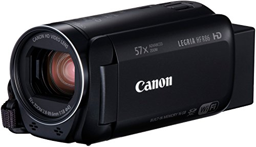 Canon LEGRIA HF R86 Videocamera Palmare, 3.28 MP CMOS Full HD, Nero