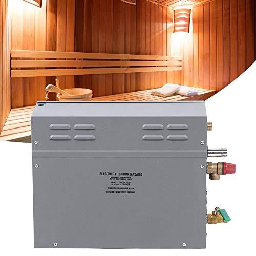 Sauna de Vapor - Sauna eléctrica de Acero Inoxidable de 6KW Generador de Vapor TM60 Panel de visualización de Tiempo de Temperatura de Control táctil(Nosotros)