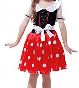 Inception Pro Infinite Talla M - 4 - 5 años - Disfraz - Disfraz - Carnaval - Halloween - Ratón - Ratón - Minnie Mouse - Rojo - Chica