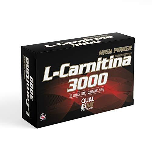 Integratore sportivo di L-Carnitina liquida con vitamina C - Carnitina per aiutare a perdere peso insieme alla pratica sportiva - Antiossidante naturale e brucia grassi - 20 fiale (al gusto di limone)