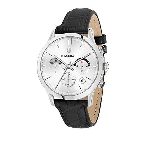 MASERATI Orologio Cronografo Quarzo Uomo con Cinturino in Pelle R8871633001