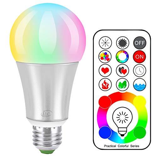 iLC LED Lampadine Colorate Edison Cambiare colore Lampadina RGB+Bianca Dimmerabile - 120 Scelte di...