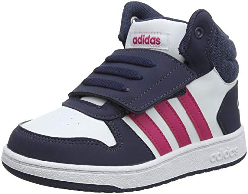 adidas Hoops Mid 2.0 I, Scarpe da Ginnastica Basse Unisex-Bimbi, Bianco Ftwwht/Reamag/Trablu, 27 EU