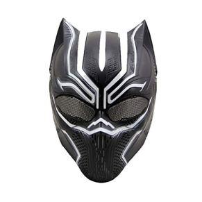 QWEASZER Capitán América: Guerra Civil, Máscaras de Pantera Negra, Máscara de Marvel Avengers Carnaval de Halloween…