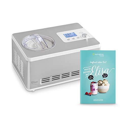 Gelatiera e Yogurtiera Elisa 2 in 1 con Compressore Autorefrigerante | 180W, 2L | Macchina per...