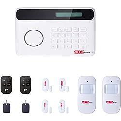 SZABTO Drahtloses GSM und PSTN Telefon-Linie Alarmanlage mit Tür-Sensor, Bewegungsmelder und Fernbedienungen Für Haussicherheit Mit deutscher Bedienungsanleitung