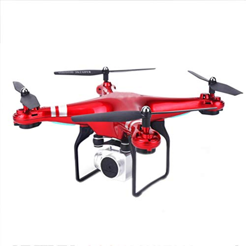 MFWFR Telecamera WiFi FPV HD, Quadricottero RC, Best Drone per Principianti con Altitude Hold, Controllo Vocale, Volo a Traiettoria, 3D Flip, modalità Senza Testa, Operazione One Key,Red,500W