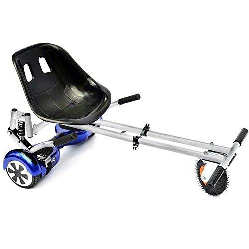 Hoverkart Bianco per Hoverboard! Trasforma il tuo balance scooter in un kart con ammortizzatori...