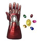 Guanto da caccia Yacn di Iron Man, del film degli Avengers Endgame gemme dell'Infinito, guanto che si illumina (guanto da adulto) Gold Taglia unica
