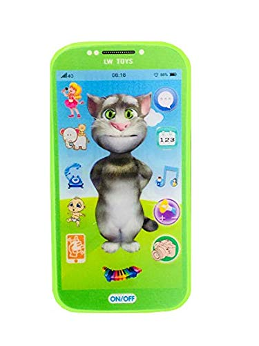 Sajani Kids Toys Digital Mobile Phone with Touch Screen Feature, Amazing Sound and Light Toy (Green)