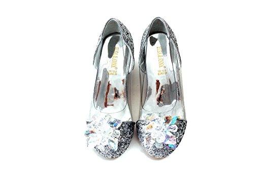 ELSA & ANNA Buona qualità Ragazze Ultimo Design Principessa Regina delle Nevi Gelatina Partito Scarpe Sandali SIL15-SH (SIL15-SH, Euro 27-Lunghezza 18.0cm)
