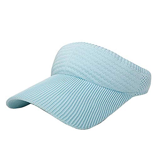 Yihome Sun Protection Summer Outdoor Sports Breathable Cool Hat Baseball No Top Tennis Visor Sun Hat Blue
