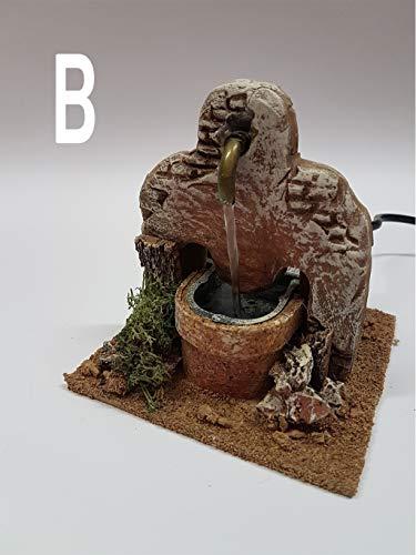 De Sisinno Fontana in Terracotta per presepe con Acqua in Movimento - Dim. H13x12x12 cm (Modello B)