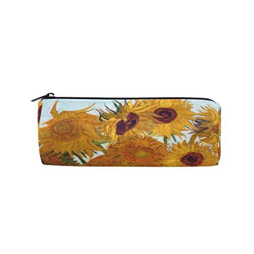 Van Gogh, astuccio portapenne con girasoli, grande capacità per studenti e donne
