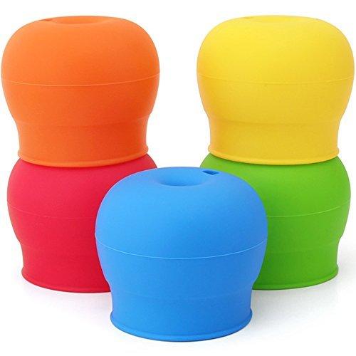 maxin Tappi in silicone sorseggiare confezione da 5, beccuccio in silicone rende tazza in...