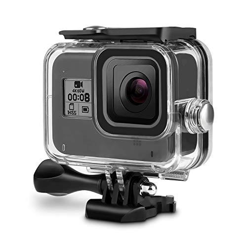 Rhodesy Custodia Protettiva Impermeabile per GoPro Hero 8 Black(Nero), Custodia Subacque Accessori Include Supporti e Viti per GoPro Hero 2019 Hero 8 Black(Nero) Action Camera