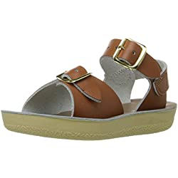 Salt Water Sandals Sun-San Surfer Tan Leather 28 EU