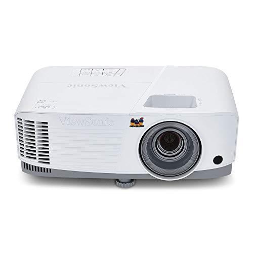 Viewsonic PA503S 3D Heimkino DLP Projektor (SVGA, 3.600 ANSI Lumen, HDMI, 2 Watt Lautsprecher, 1.1x optischer Zoom) Weiß-Grau