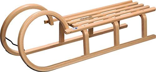 COLINT Hörnerschlitten 110 cm Holzschlitten Schlitten Holz Rodel Hörner HCL 40110