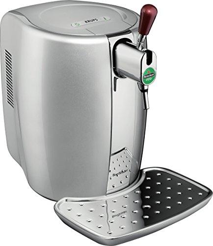 Krups YY2931FD Machine à Bière Pression Beertender Avec Coffret 2 Verres Tireuse Pompe à biere Fût 5L Argent Chrome