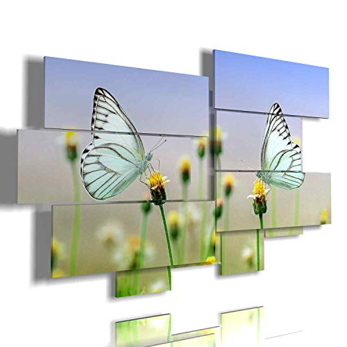 Cuadro Moderno Mariposas 02-multipannello a dos Niveles by duudaart