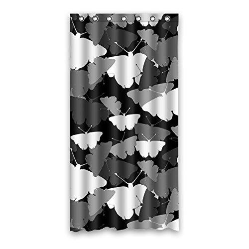 "doubee haltbarer mariposa Butterfly Resistente al agua poliéster cortina de ducha cortina de ducha 90cm x 183cm, poliéster, E, 36"" x 72"""
