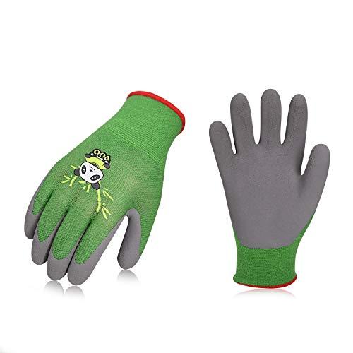 Vgo Glove Guanti, 2 paia, per bambini di 5-7 anni, guanti da lavoro per bambini con rivestimento in...