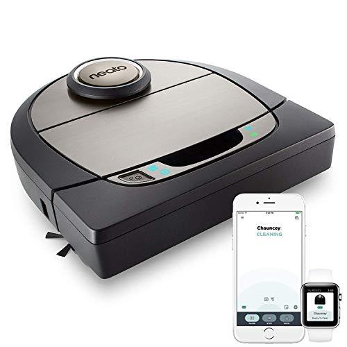 41oIRLU1TaL [Bon Plan Neato] Neato Robotics D701 Connected - Compatible avec Alexa - Robot aspirateur avec station de charge, Wi-Fi & App