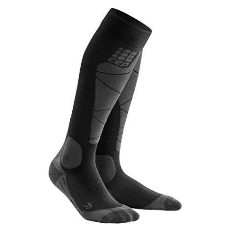 CEP - SKI Merino Socks für Herren | Skisocken mit Kompression und Merinowolle in schwarz/grau | Größe IV