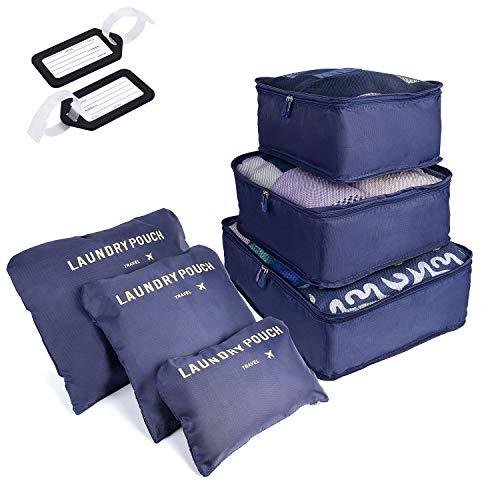 SHOLOV Organizer Valigie Impermeabili, Set da 6 Organizzatori da Viaggio, Organizzatore Valigia per...