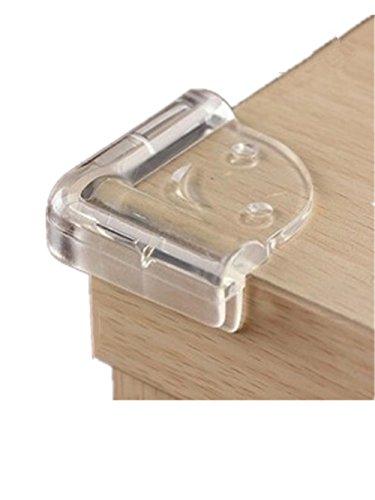 Moolecole Kantenschutz, transparent, 10Stück, für Babys, sehr dicker Schutz für Kanten und Ecken, für Tisch und Büro, Sicherheits-Kantenschutz für Babys