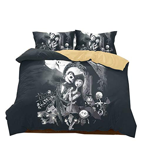 Nightmare Before Christmas 3pcs set di biancheria da letto 1 pz copripiumino witj 2pcs federa nessun...