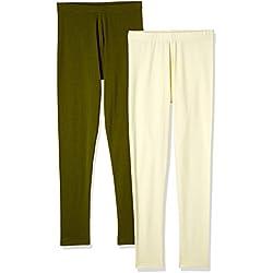 Myx Women's Cotton Stretch Leggings (Pack of 2) (AW16LEG01PCKI_Multi_Small)