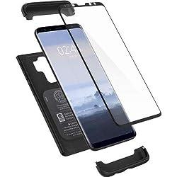 Kaufen Spigen Thin Fit 360 Samsung Galaxy S9 Plus Hülle (593CS22959) 360° Rundumschutz-Schale mit Gratis Panzerglas Handyhülle Schutzhülle Case (Schwarz)