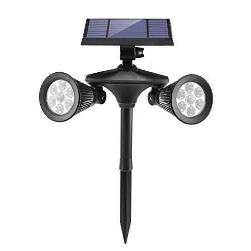 Luci Solari da Giardino, Luposwiten Lampade Solari da Esterno 4500mAh 12LED Lampada Led Esterno...