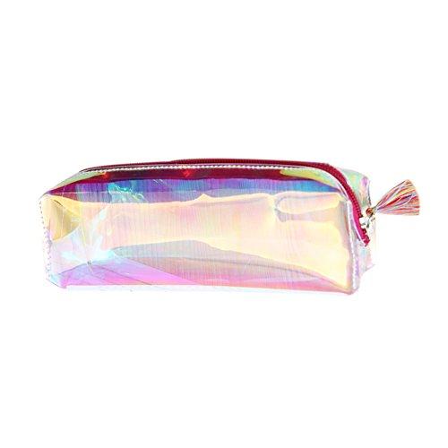 Outflower 1PCS multicolor laser trasparente di matita bella portapenne grande capacità laser...