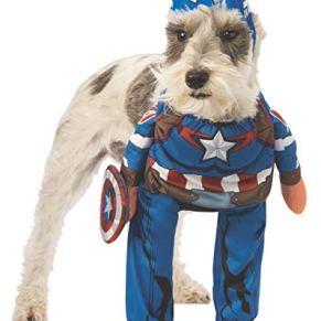 Rubie'S Marvel Disfraz de Capitán América para Mascota, Grande