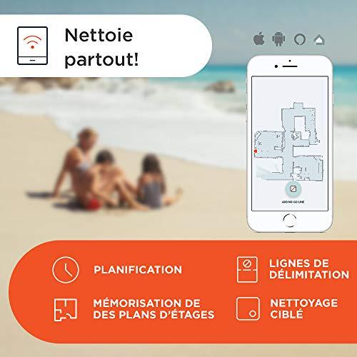 41oTisB3FHL [Bon Plan Neato] Neato Robotics D402 Connected - Compatible avec Alexa - Robot aspirateur avec station de charge, Wi-Fi & App