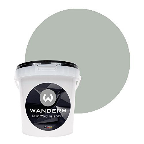 Wanders24 Pittura lavagna (1 litro, Grigio piuma) pittura murale, vernice effetto avagna, lavabile,...