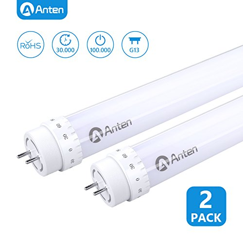 2 X Anten 150cm 24W T8 LED Tubo Fluorescente, Tubo LED 5ft Con El Enchufe G13 Blanco Natural 2400LM Reemplaza 48W Tubo Tradicional