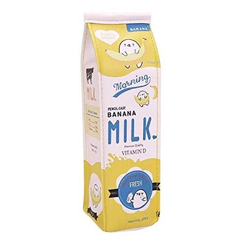 Westeng Astuccio penne creativo a forma di cartone del latte in PU, design a fumetto con cerniera...
