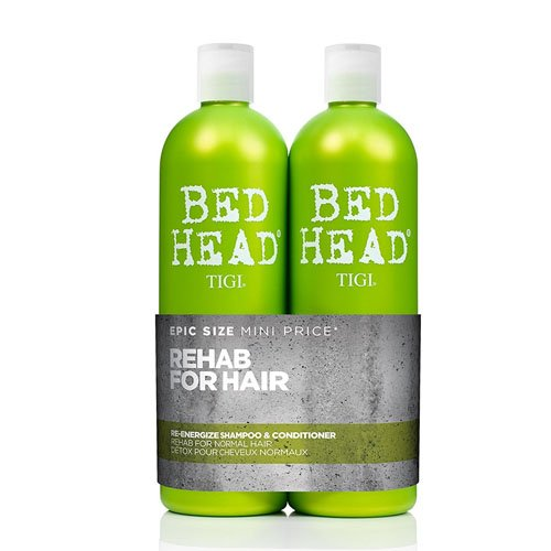 BED HEAD by TIGI Urban Antidotes Re-energize™ Tween Duo Daily Shampoo & conditioner for Normal Hair - 750 ml (Pack of 2)