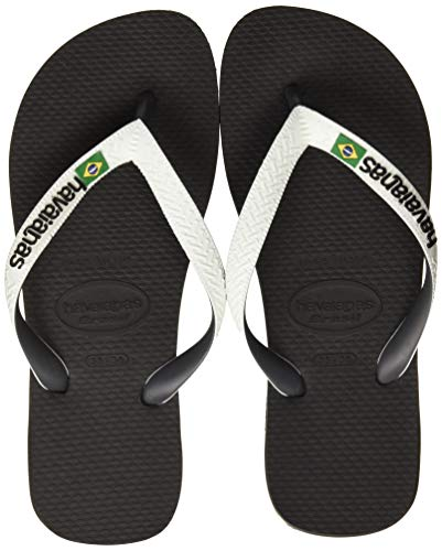 Havaianas Brasil Mix Infradito Unisex – Adulto, Multicolore (Black/White 0133), 43/44 EU ( 41/42...