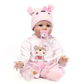 Baby Doll Rewborn Nursery Baby Alive Doll Realista Pretender Juegos de rol Juguetes para niños Cute Newborn Baby Girl Doll Realista con ropa Sombrero Juguetes de alimentación Botella de leche Bebés Ni