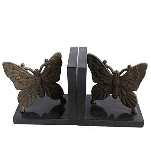 Marca turística Estudio Moldeada sujetalibros del Arte del Hierro de la Mariposa del Metal del Modelo de decoración de Oficina (Color : Multi-Colored, Size : 26x9.0x13cm)