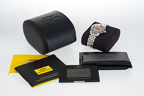Breitling Galactic 36Damen Automatik Uhr mit Braun Zifferblatt Analog-Anzeige und Silber Edelstahl Armband A3733012/q582/376A - 4