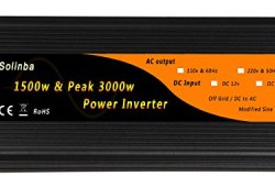 Solinba 1500w Car Power Inverter Converter DC12v to AC 220v 50Hz off grid with USB (DC12v) prêt à acheter