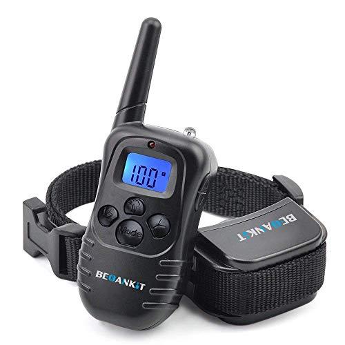 Beoankit Collar De Adiestramiento para Perros-Rango Remoto de 300 Metros-Recargable-Resistente Al Agua-Pitido De Alerta Y Modo De Vibración.