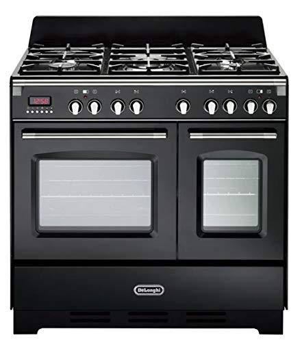 De Longhi MEM 965T NN ED | Cucina a Gas 5 Fuochi + 2 Forni Elettrici Ventilati, 90x60 cm, colore...